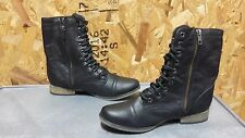 New Womens Skechers Starship (48321) Casual Lace Up Combat Boots Multi Sz (J204)