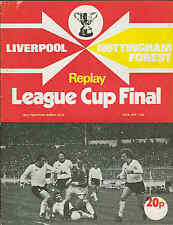Football Programme  Liverpool v Nottingham Forest - League Cup FINAL Replay 1978
