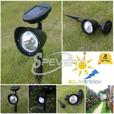 Lots 4 LED Solar Spot Light Outdoor Garden Lawn Landscape Spotlight Path Lamp