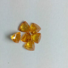 3mm - 6mm Natural Orange Garnet Faceted Cut Trillion Top Quality Loose Gemstone