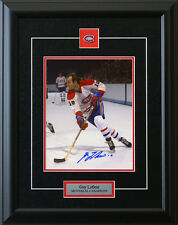 Guy Lafleur Montreal Canadiens 8x10 Signed Framed Photo COA T1M Sports