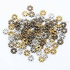 DIY Tibetan Silver/Golden/Bronze Daisy Spacer Beads Findings100-1000Pcs 4/6mm