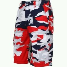 NEW ENGLAND PATRIOTS NFL MENS TEAM APPAREL TEAM COLORS CAMO CARGO SHORTS