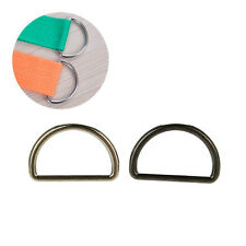 10X Metal Sliver D Ring D-rings Purse Ring Buckles For Webbing Strapping 25mm  R