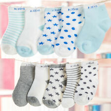 5Pairs Baby Boy Girl Cartoon Cotton Socks NewBorn Infant Toddler Kids Soft Sock
