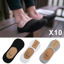 Lot 10 Pairs Mens Invisible Trainer Liner Socks No Show Secret Footsies Adults