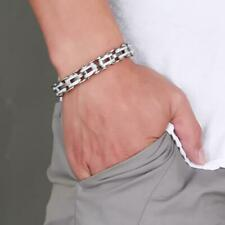 Mens Popular Stainless Steel Bicycle Chain Hand Chain Charm Bangle Bracelet