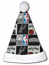 NEW NBA San Antonio Spurs Christmas Basketball Santa Hat Personalized 18""