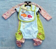 Carters Little Giftables 4 pc Mommy Loves Me Fishes Set