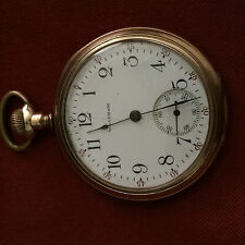 American Waltham 15 Jewel Open Face Pocket Watch with Gold Filled Case