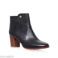 Tory Burch Sabe 65mm Ankle Boots Black grained Leather New BNIB UK 8 41 RRP £359