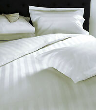 1000TC Egyptian Cotton WATERBED SHEET SET White Stripe