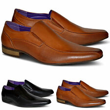 Mens Smart Slip On Casual Brogues Dress Formal Office Shoes Size 6 7 8 9 10 11