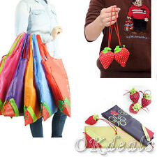 New Eco-friendly Handbag Strawberry Foldable Plastic Reusable Shopping Bags