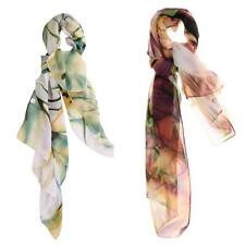 Trendy Women Lady Fashion Soft Chic Floral Chiffon Wraps Shawls Neck Head Scarfs