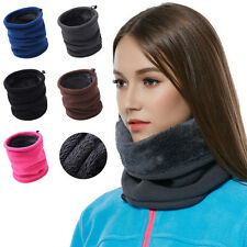 New Mens Womens Warm Fleece Snood Scarf Neck Warmer Wraps Hat Balaclava Scarf ES