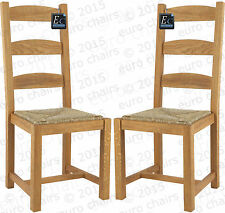 FRENCH OAK LADDERBACK CHAIR |  TRADITIONAL OAK COUNTRY CHAIR | RUSH SEAT