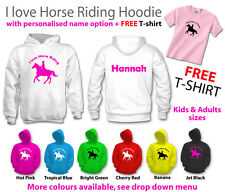 ** I love horse riding hoodie ** girls boys womens mens show jumping hoody pony
