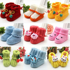 Baby Girls Crochet - Knitted Mary Jane Booties Handmade Baby Gift Shoes Boots