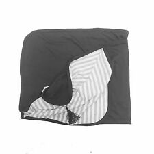 100% Organic Cotton Receiving Blanket, Pink/Black/Navy for Boy and Girl
