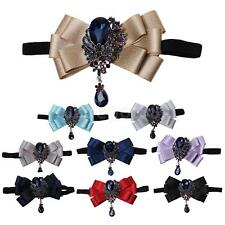 Adjustable Mens Groom Wedding Party Bling Novelty Gifts Tuxedo Necktie Bow Tie