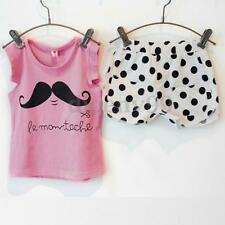Toddler Baby Kids Girl Clothing Vest Top T-shirt+Dot Shorts Party Casual Outfits