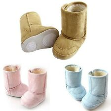 Unisex Baby Girl Boy Snow Boots Soft Sole Infant Crib Shoes Toddler Warm Boots