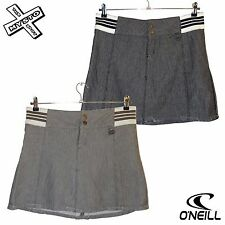 O'NEILL WOMENS HERRINGBONE PLEAT SKIRT BLACK BROWN UK 10 12 14 BNWT RRP £50
