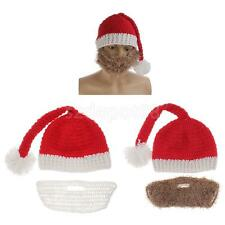 Mens Womens Christmas Costume Red Santa Claus Hats Winter Warm Wind Mask Caps