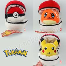 Pokemon Pokeball With Poke Ball Pikachu Charmander Pendant Soft Plush Doll Toy