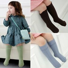 Hot Baby Kids Toddler Cotton Knee High Socks Tights Leg Warmer Stockings