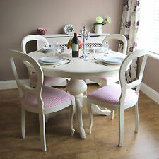 Shabby Chic French dining table and chairs.Bedroom chairs.Art Deco  tallboy.