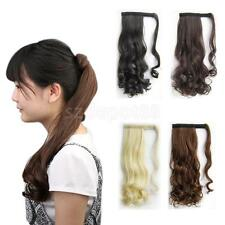 Women's Long Hair Clip In Ponytail Hair Extension Curly Hair Hairpiece Cosplay