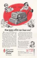 1955 Pitney Bowes Postage Meter: Every Office Can Have Print Ad (20691)