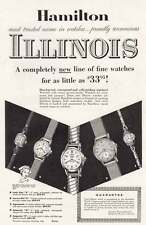 1953 Hamilton Watches: Illinois Print Ad (14513)