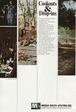 1971 Middle South Utilities: Cookouts and Drop-Ins Print Ad (14984)