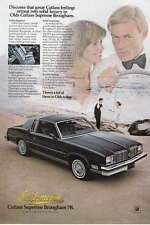 1978 Oldsmobile Cutlass Supreme Brougham: Solid Luxury Print Ad (16481)