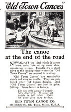 1924 Old Town Canoe: The Canoe At the End of the Road Print Ad (23816)