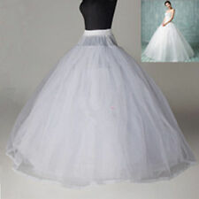 White 3-Layer/8-Layer No Hoop Tulle Petticoat Wedding Gown Crinoline Skirt Slip
