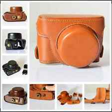 For Canon PowerShot G1X Mark II M2 PU Leather Bag Case Cover Pouch