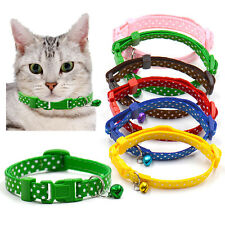 Adjustable Nylon Dog Collar Puppy Cat Pet Collar Necklace with Bell Hot Trendy