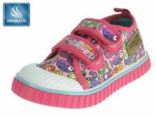 Infant Toddler Baby GIRLS TRAINERS Pumps Canvas Shoes Plimsoll Size 3 - 7