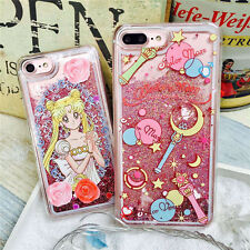 HOT Cute cartoon Sailor Moon Quicksand Glitter case cover for iphone 7 6S 6Splus