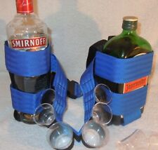 Waist worn shot belt for selling or distributing drinks .with 2 borrle  holders