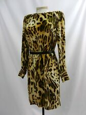 Etcetera velvety animal print tunic dress with leather belt sizes  6 8 12 $285