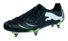 Puma PowerCat 1.10 SG Mens Leather Soccer Cleats / Shoes - Black White