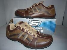 Skechers Men's Brown Citywalk Leather Casual Oxford Shoes SIZES! NIB*