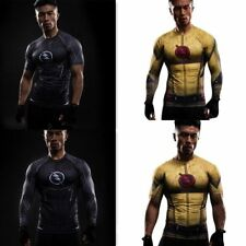 The Golden Flash Superhero Marvel Costume T-Shirts Cycling Tee Bicycle Jersey