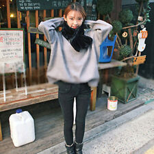 Korean Style Lady Women Autumn Winter Double Sided Solid Keep Warm scarf SM