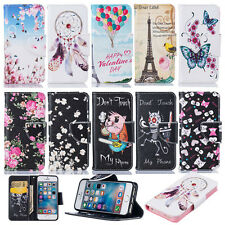 Card Holder Wallet Case for iPhone PU Leather Magnetic Flip Patterned Cover Skin
